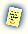 Which Label Claims Are Valid?
